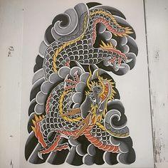 #tattoo #Japanesetattoo #irezumi #wabori #dragon #dragontattoo by manabu_tairaku http://instagram.com/p/yXSgoPwcoB/