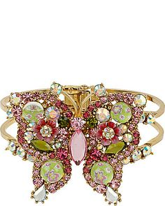 BETSEY JOHNSON Glam Butterfly Hinged Bangle $59.95