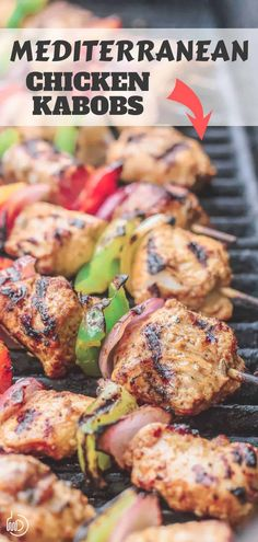 This recipe and tutorial is all you need to make the BEST grilled chicken kabobs ever! Chicken is marinated Mediterranean-style with loads of great flavors from spices, fresh garlic, citrus and extra virgin olive oil. Great tips with this chicken kabob recipe! #mediterraneanfood #mediterraneanrecipes #chickenkabobs #grilledchicken #grilling #summerrecipes #healthyrecipes #glutenfree Grilled Chicken Kabobs, Chicken Kabob Recipes, Grilling Recipes, Cooking Recipes, Healthy Recipes, Grilled Meat, Grilling Ideas, Shrimp Kabobs, Steak Kabobs