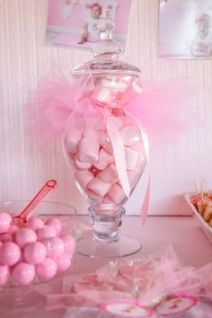 Ballerina Baby Shower jar