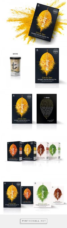 Teaforia Gourmet Ground Tea packaging design by This Way Up (UK) - http://www.packagingoftheworld.com/2016/09/teaforia-gourmet-ground-tea.html