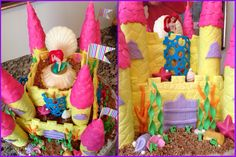 The Little Mermaid birthday cake, made this for my niece..