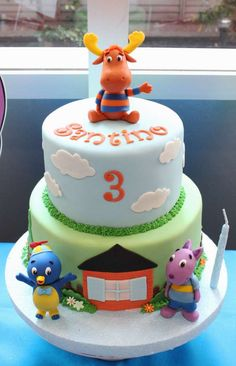 Fun cake at a Backyardigans birthday party!  See more party planning ideas at CatchMyParty.com!