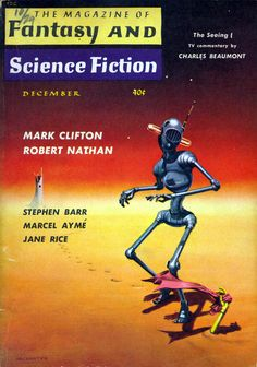The Magazine of Fantasy and Science Fiction, December 1959 | cover art by Mel Hunter