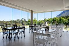 The Deli at Tokara has unrivaled views of the surrounding Cape Winelands, False Bay and Table Mountain. Table Mountain, Deli, Vineyard, Cape, Table Decorations, Home Decor, Mantle, Cabo, Decoration Home