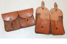Vintage-army-surplus-double-all-leather-ammo-ammunition-pouch