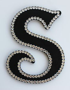 Blinged  out Handpainted Wooden Letters with by atouchofsunshine1, $30.00