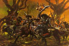 Risultati immagini per warhammer wolf riders art Fantasy Battle, Fantasy Races, High Fantasy, Fantasy Rpg, Fantasy Artwork, Fantasy World, Warhammer Fantasy, Medieval Art, Medieval Fantasy