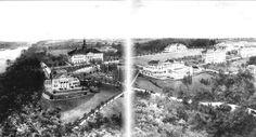 Jacob Tome School for Boys, Port Deposit, MD - Bird's eye view of the original Tome School campus and elegant Italian gardens.