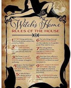 Witch's House Rules #pagan #wiccan #witch