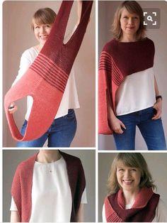 Knit Vest Pattern, Knitting Patterns, Sewing Patterns, Crochet Shawl, Crochet Stitches, Knit Crochet, Knitting Blogs, Diy Clothing, Crochet Clothes