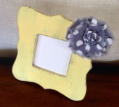 Rustic springtime picture frame. Lemonade by BrecksCountryDesigns