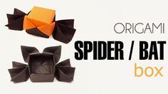 Paperized: Spider / Bat Origami Box