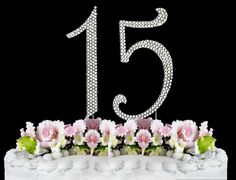 Rhinestone Cake Topper Number 15 -- Insider's special offer that you can't miss : Baking decorations