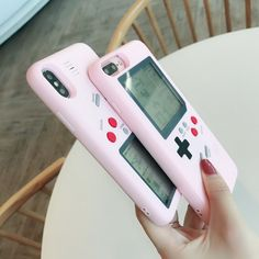 Pink Gameboy iPhone Case - 10 games included! – NotebookTherapy Iphone 7 Plus, Iphone 8, Iphone Cases, Samsung Cases, Gameboy Iphone, Floral Iphone Case, Apps, Gaming, Usb