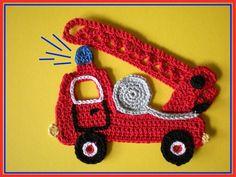 crochet small motif: more ideas - crafts ideas - crafts for kids Appliques Au Crochet, Crochet Motifs, Crochet Stitches, Crochet Patterns, Crochet For Boys, Knit Or Crochet, Crochet Gifts, Crochet Toys, Crochet Embellishments