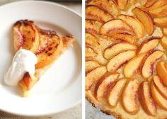 Быстрый пирог со свежими персиками | Печем и варим