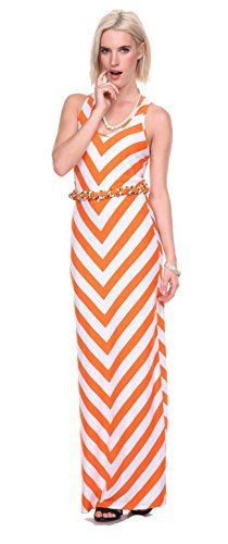 Stanzino Womens Belted Striped Tank Maxi Dress ** Continue to the product at the image link.