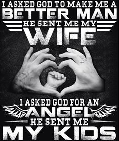I Asked God To Make Me A Better Man He Sent Me My Wife, I Asked God For An Angle He Sent Me My Kids T-Shirt. Father's Day Gifts 2018 For Mens. Father's Day gift for dad daddy, husband hubby, Mothers Day gifts from wife, daughter, son. Funny daddy shirt, funny papa shirt, Fathers Day shirt for mens. Best perfect gifts idea for dad, father, papa.