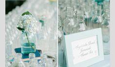 Inspiração para um casamento em azul céu. #casamento #azul #azulceu #detalhes #decoracao #flores #moldura