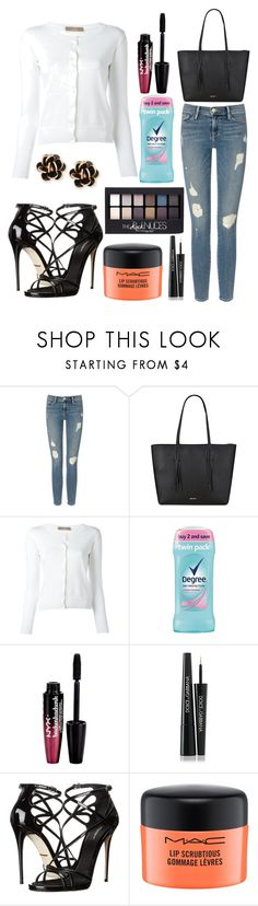 """""""Untitled #10947"""" by ohnadine ❤ liked on Polyvore featuring Frame, Nine West, Cruciani, Maybelline, Degree, Charlotte Russe, Dolce&Gabbana, MAC Cosmetics and Chantecler"""