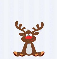 Rudolph Boy Reindeer Christmas Reindeer SVG,EPS Png DXF Peeping Reindeer digital download files Silhouette Cricut, vector Clip Art graphics by JenCraftDesigns on Etsy