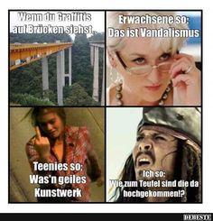 Wenn du Graffitis auf Brücken siehst..
