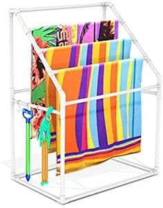 Modern Bathroom Accessories, Pool Accessories, Towel Rack Pool, Pool Towels, Pvc Pool, Rack Shelf, Beach Towel, Airbnb Ideas, Man Projects