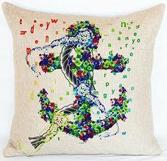 Hot Sale Obeny Printed Cotton Linen Cushion No Filler Pillow Chair Car Sofa Cushions Decorative Throw Pillows Throw Pillow Cases, Pillow Covers, Throw Pillows, Anchor Pattern, Cotton Linen, Artwork, Amazon, Design, Home Decor