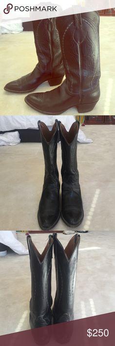 Lucchese vintage western boot Black vintage western boot Lucchese Shoes Heeled Boots