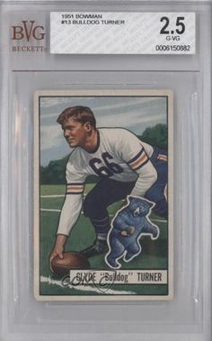 Bulldog Turner BVG GRADED 2.5 Chicago Bears (Football Card) 1951 Bowman #13 by Bowman. $18.00. 1951 Bowman #13 - Bulldog Turner BVG GRADED 2.5