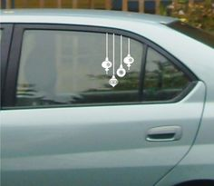 Ornaments Vinyl Decals Holiday Vinyl Decals Car by canodesigns, $9.99