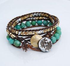 Layered waxed Irish linen bracelets.  DIY bracelet tutorial. handmade-jewelry-bracelets