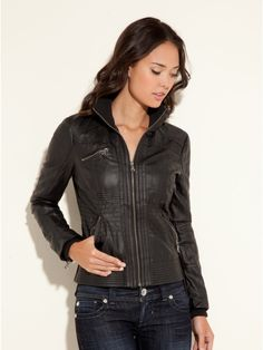GUESS Fiji Faux-Leather Jacket for $108.00