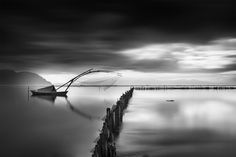 Black And White Photographs Bring Out The Peacefulness Of A Lake