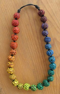 Rainbow necklace by DesertWindDesigns, via Flickr and pcPolyzine.com.