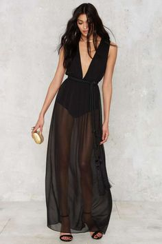 Nasty Gal The Madness Sheer Dress - Designed By Us