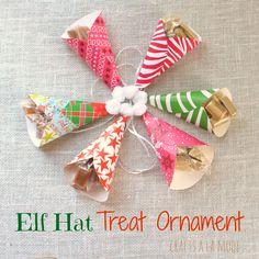 Crafts a la mode : Elf Hat Treat Christmas Ornament