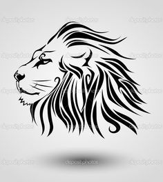 Hand painted black lion PNG and Clipart Leo Tattoos, Body Art Tattoos, Small Tattoos, Mural Tattoo, Lion Tattoo Meaning, Tribal Lion Tattoo, African Symbols, Lion Drawing, Arte Tribal