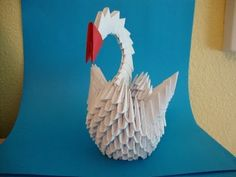 ▶ How to make a 3d origami swan - YouTube