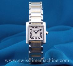 Watch of the week The always classic and in fashion #Cartier #Tank #Francaise #Ladies in steel and gold! In Mint Condition For price click on the link