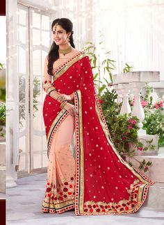 Pink Wholesale Designer Saree Supplier From India