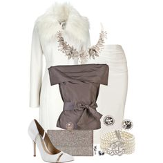 """""""White Crystal"""" by katc on Polyvore - aldo shoes and cheap coat"""