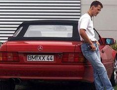 Michael Schumacher (© Rex)  MERCEDES BENZ SL 1999
