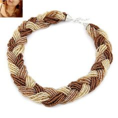Asujewlery.com Offers High Quality Punk Multicolor Beads Twist Weave Design Alloy Korean Necklaces,Priced At Only US$1.49(Free Shipping)