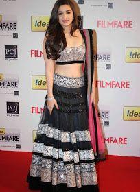 Alia Bhatt in a gorgeous black and pink lehenga