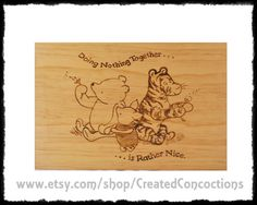 Eeyore, Tigger, Wood Burned Signs, Wooden Memory Box, Baby Hats Knitting, Woodburning, Wood Design, Wooden Signs, Winnie The Pooh