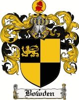 Bowden Coat of Arms / Bowden Family Crest