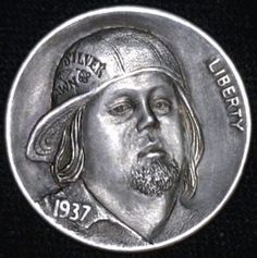 Steve Adams - Chumlee from Pawnstars TV Show Steve Adams, Pawn Stars, Hobo Nickel, Coin Art, Cactus, Coins, Carving, Sculpture, Money