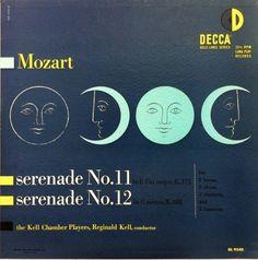 Kell Chamber Players- Mozart: Serenades, label: Decca DL 9540 (1951) Design:Erik Nitsche.